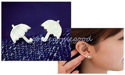 925 Sterling Silver - Umbrella Simple Club Party Mini Women Earrings Jewelry
