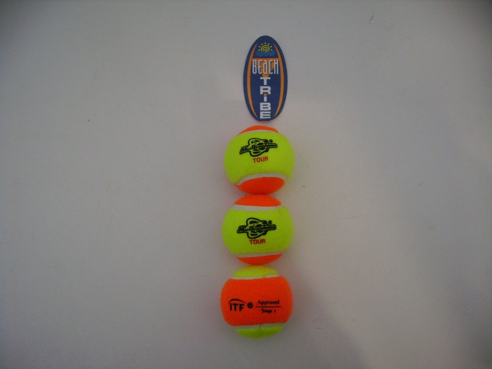 12 Balls Balls Beach Tennis MBT Tour Yellow orange ITF Approved Stage 2
