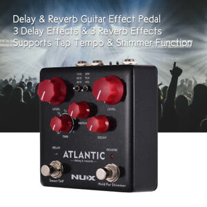 NUX-Delay-Reverb-Guitar-Effect-Pedal-Dual-Footswitch-3-Delay-3-Reverb-Effects