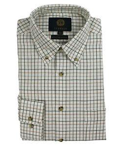 Viyella Plum Mini Tattersall Check 80//20 Cotton Wool Blend Shirt