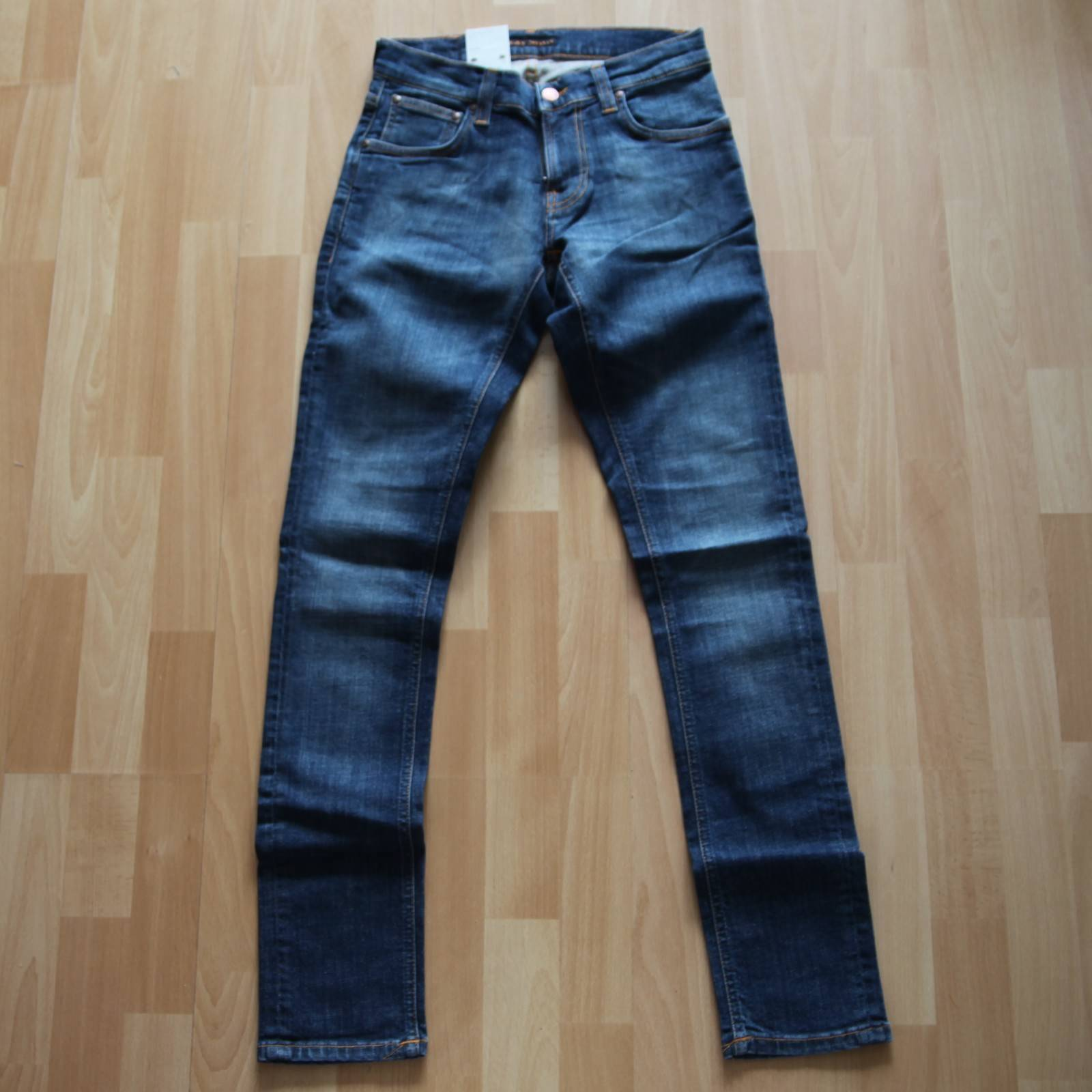 NUOVO Nudie Jeans tight Terry (tight antifit) Organic DARK Pacific 28 32