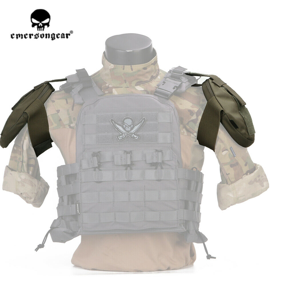 Emerson  Tactical Shoulder Armor Pad Shoulder Predector Armor Pouch 2PCS  high quality genuine