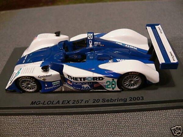 1 43 SPARK MG-Lola ex 257  20 Sebring 2003 SCMG 08