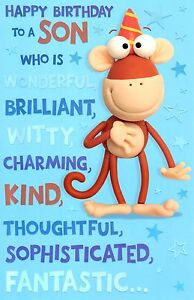 Cute-Wonderful-Son-Happy-Birthday-Greeting-Card-Crackers-Range-Cards-New