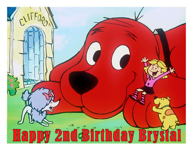 Strange Clifford The Big Red Dog Edible Cake Image Cake Topper Party Personalised Birthday Cards Petedlily Jamesorg