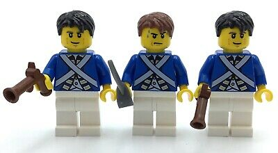 LEGO LOT OF 5 BLUECOAT SOLDIER MINIFIGURES UNION SOLDIER ARMY MEN FIGS