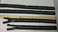 Rhinestone Zipper - Full Separating - Black - 14 16 20 22