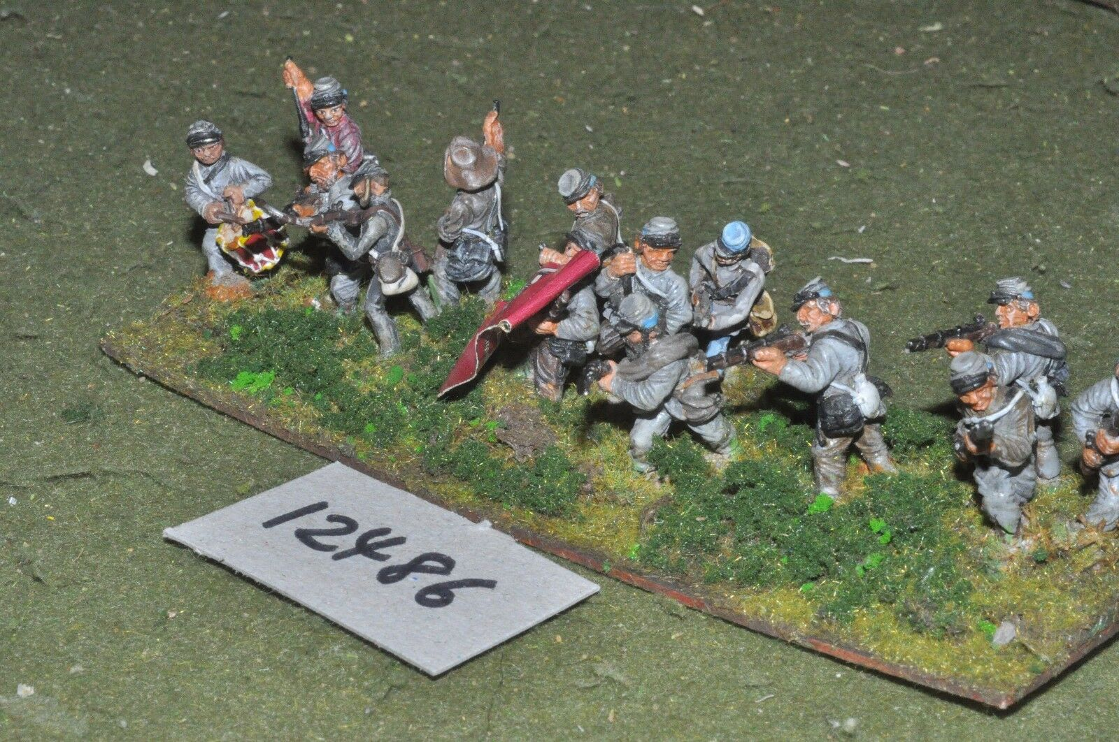25mm ACW   confederate - american civil war infantry 14 figures - inf (12486)
