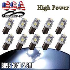 10Pcs Cool White BA9S T10 5SMD Interior Turn Signal Corner LED Light Bulbs 6253