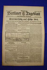 De Berlin Dealer (26.1.1917): Tempête Succès à Hauteur 304-afficher Le Titre D'origine