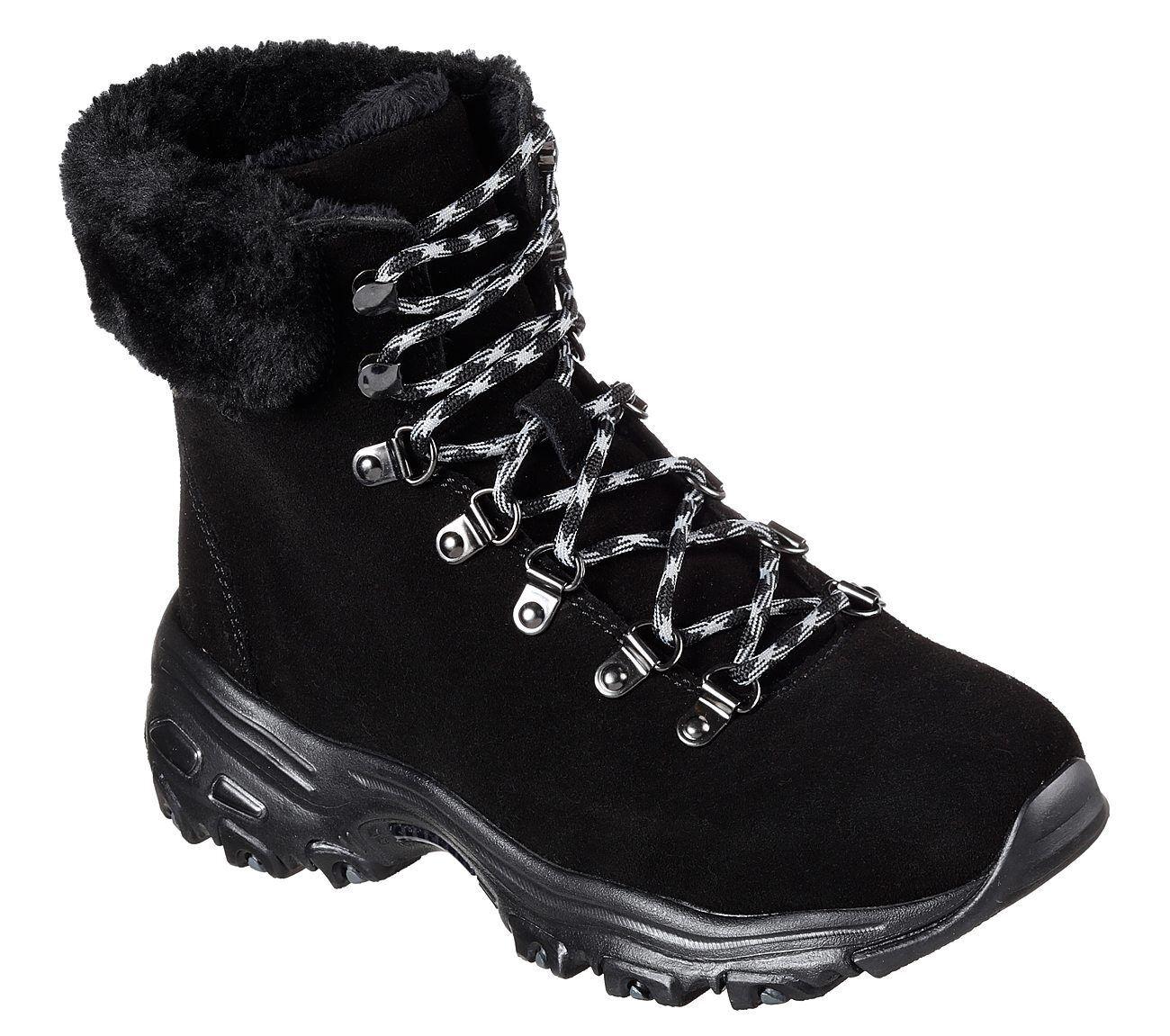 Nuevo Skechers señora botas botas señora d 'Lites-Alps negro bc0007