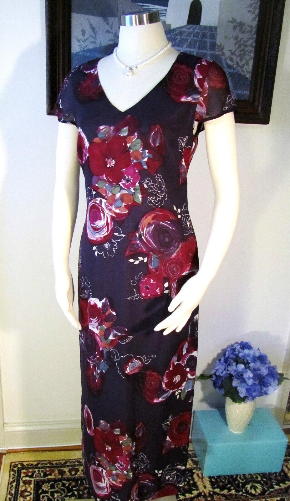 NWOT Laura Ashley lila Silk Dress Größe US 6