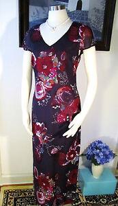 NWOT-Laura-Ashley-Purple-Silk-Dress-Size-US-6-UK-10-EUR-36