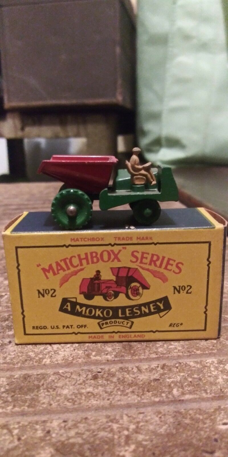 MATCHBOX LESNEY B AVELING BARFORD SITE DUMPER, GPW, EXCELLENT, BOXED TYPE B