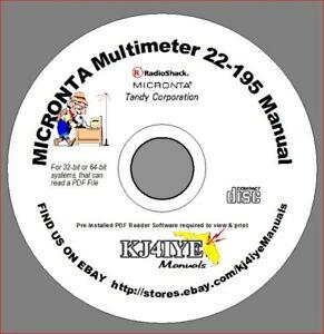 MICRONTA-RadioShack-CD-Digital-LCD-Multimeter-22-195-Meter-Manual-CD-MANUAL-ONLY