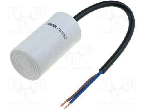 für Motoren 1 st 25÷70°C Betrieb; 10uF; 450V; Ø35x60mm; Kondensator