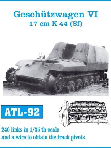 1//35 ATL92 FreeShip FRIULMODEL METAL TRACKS for GERMAN GESCHUTZWAGEN VI TIGER