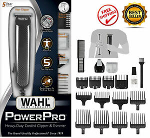 wahl power professional corded grooming clippers trimmer kit for hair body beard. Black Bedroom Furniture Sets. Home Design Ideas
