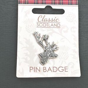 Stag Pewter Lapel Pin Badge//Brooch Deer Country Heritage Hunting Highland BNWT//N