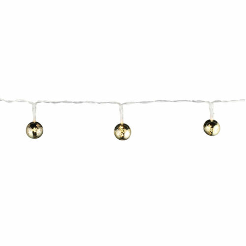 Design DEL Guirlande Électrique ESS Chambre de Noël Boules Déco Couloir éclairage Gold