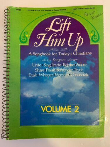 Vintage 1981 Lift Him Up Volume 2 Songbook Small 5 x 7 Spiral Bound