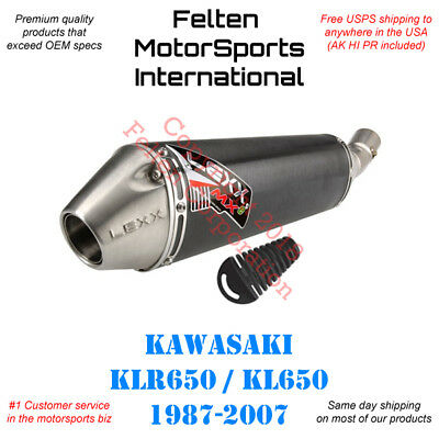 Lexx MXe Slip-On Silencer With Mid-Pipe Fits Kawasaki KLR650 1987–2007