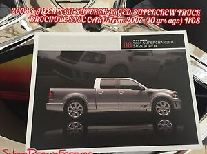 Details About 2008 Saleen S331 Supercharged Supercrew Sport Truck Brochure Ford F150 Mustang