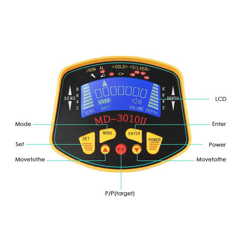 Image 51 - Metal-Detector-Gold-Digger-Finder-Deep-Sensitive-Light-Hunter-w-LCD-Display