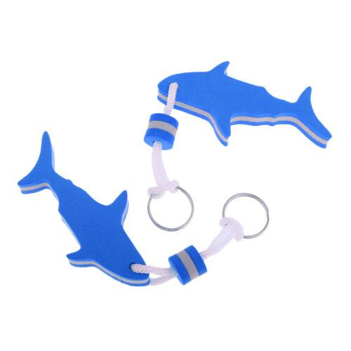 Shark Shape 2Pcs EVA Foam Floating Keychain Marine Boat Kayak Keyring Buoy