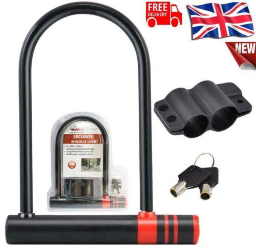 Scooter /& Bmx Security Motorbike Bicycle ROADSTER D//U Shaped Bike Lock Cycle