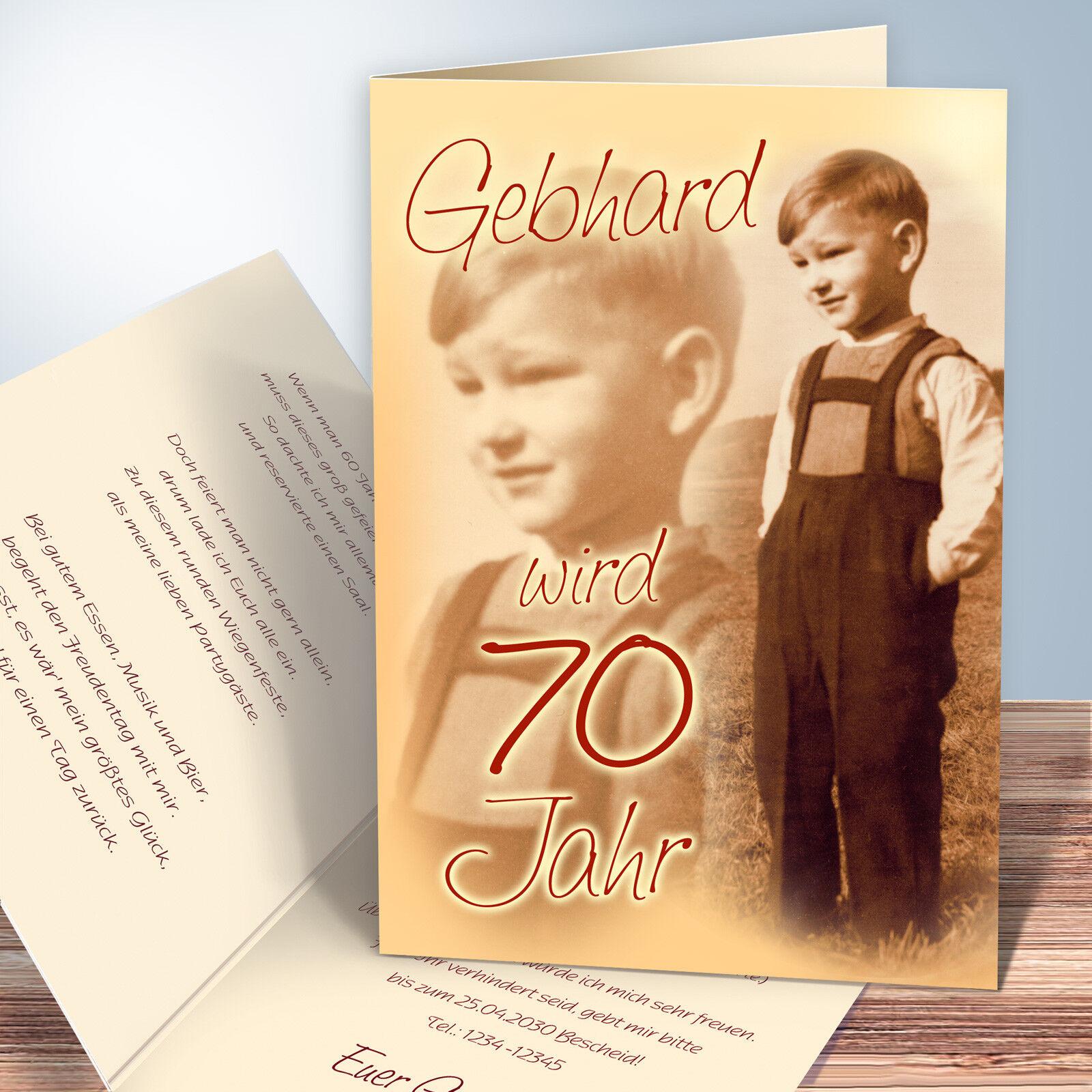 Personalisierte Einladungskarten Geburtstag – (mit Ihren Texten Texten Texten und Fotos) | Haltbarkeit  | Bekannt für seine gute Qualität  5c0672