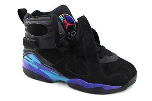 22ec128cdfb NIKE Air Jordan Retro 8 GS Black Aqua Concord Sneakers 6Y 305368-041 ...