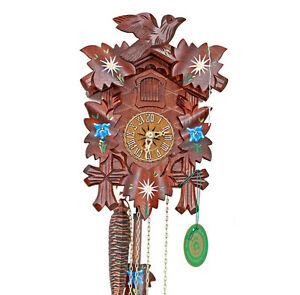 "HEKAS Black Forest Cuckoo Clock "" Edelweiss "" New/Original Packaging"