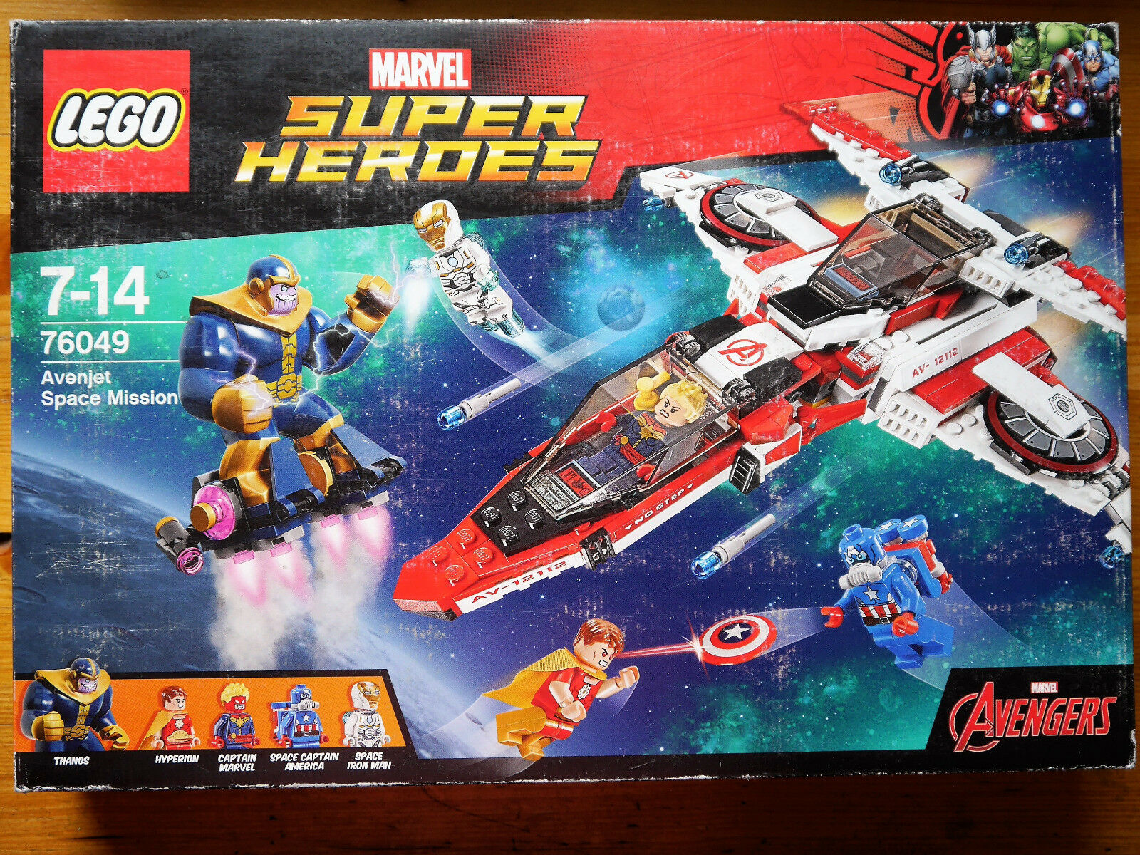 MARVEL Super Heroes Avenjet Space Mission - Thanos Hyperion Iron Man Lego 76049