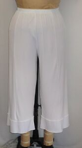 d65b8d573c6 Coco   Juan Lagenlook Plus Size Crop Pant White Travel Knit Size 1 ...