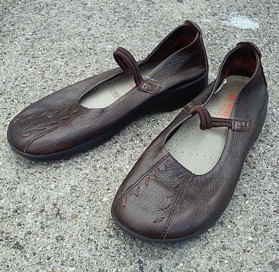 41 8 Arcopedico Shawna Mary Jane Slip On Metallic Schuhes Portugal Comfort Leder