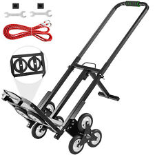 Portable Stair Climbing Folding Cart 460lbs Capacity Hand Truck With Backup Wheels
