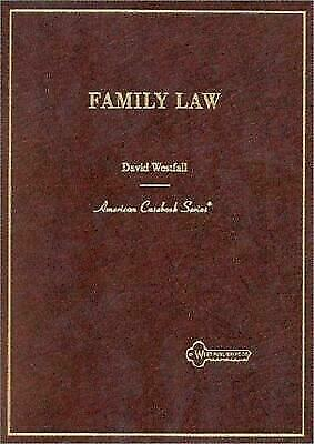 Family Law (American Casebook Series), Westfall, David, Good Book