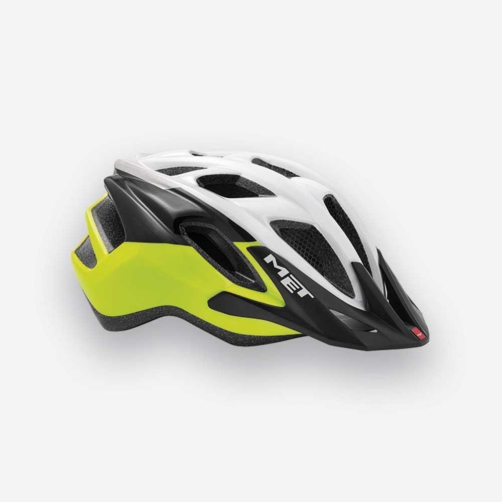 Road Bike Cycle Helmet MET Funandgo Matt Safety Yellow White
