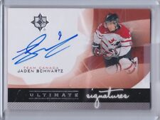 TEAM CANADA 2012-13 UD ULTIMATE COLLECTION JADEN SCHWARTZ ULTIMATE SIGNATURES