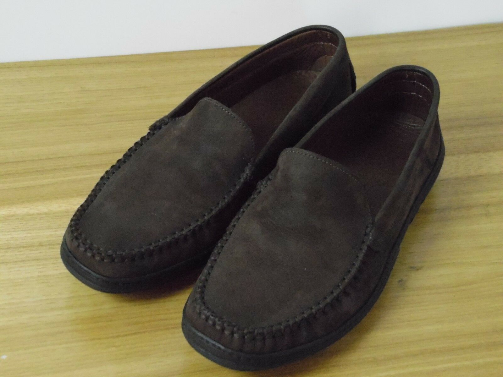 Brooks Brothers Men's brown Nubuck Suede Casual Sport Loafers Size 9 D (US)