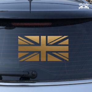 Details About Uk British Flag Union Jack Britain Car Sticker Gold Vinyl Decal 2 6 16