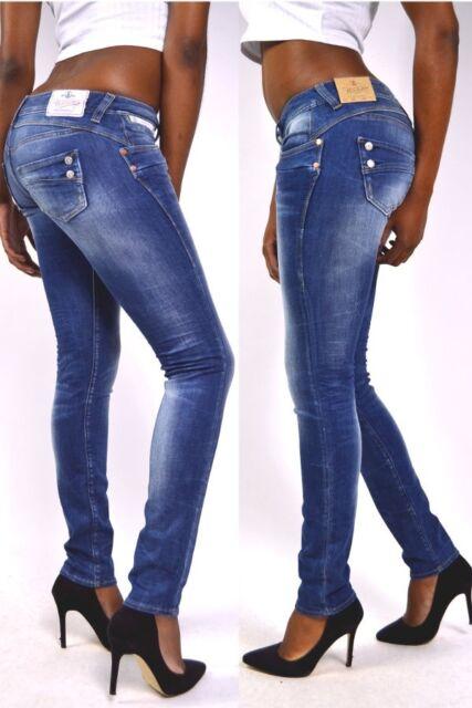 Herrlicher Piper Slim Jeans D9666 Wash Bliss - Medium Blue New 24/25/ 28/29/31