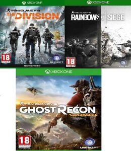 Xbox-TOM-CLANCY-039-S-RAINBOW-SIX-D-039-ASSEDIO-assortiti-Xbox-Menta-One-consegna-super-veloce