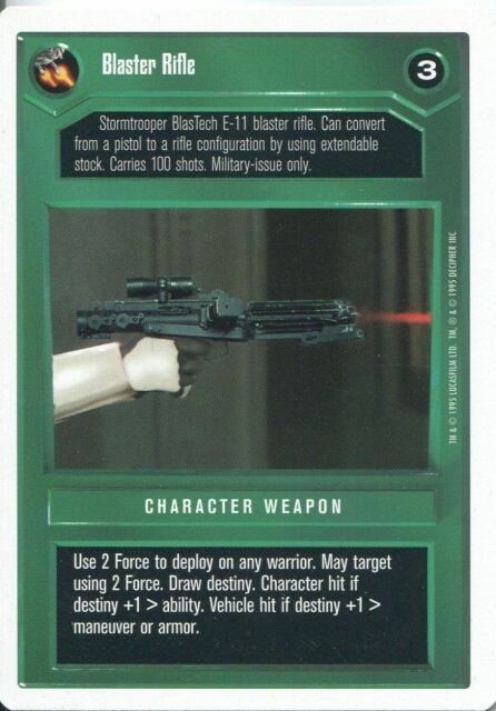 Star Wars CCG Premiere White Border Light Repeating Blaster Rifle