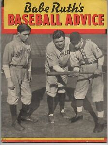 """1936 Booklet """" Babe Ruth's Baseball Advice """" with numerous Tips on Baseball"""