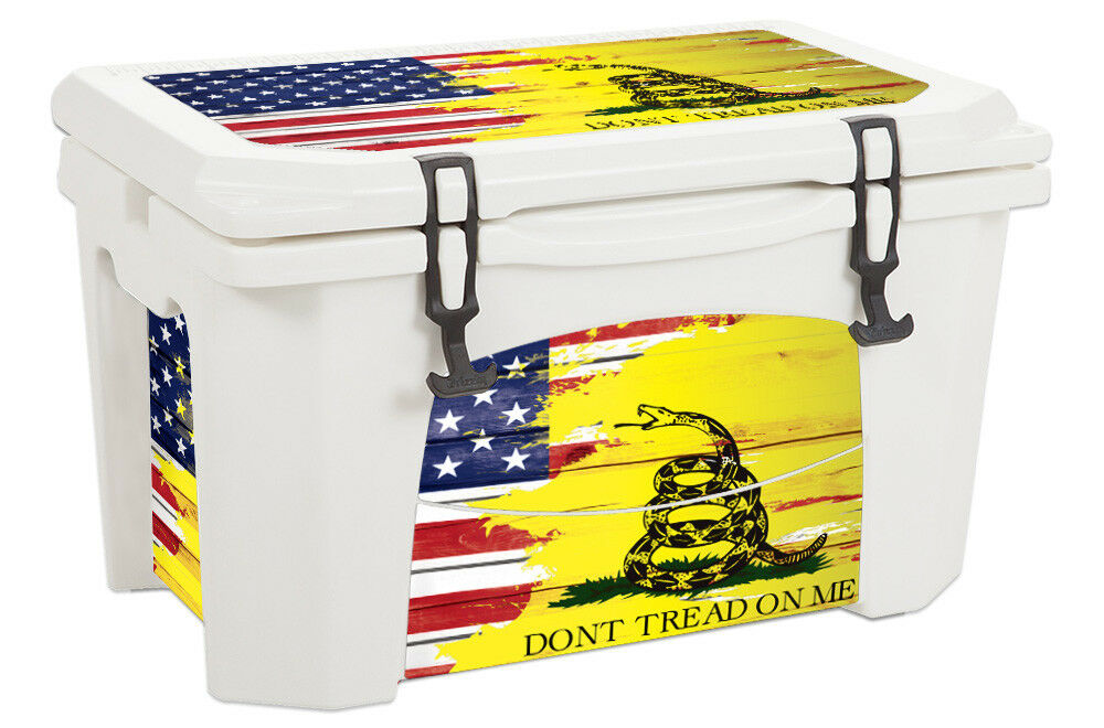 USATuff Custom Cooler Wrap Decal fits Grizzly 75qt L+I USA Don't Tread Farbe WD