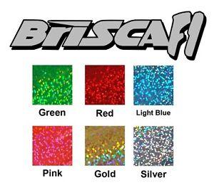 BRISCA-F1-stock-car-vinyl-sticker-logo-GLITTER-and-black-190x50mm-free-P-amp-P