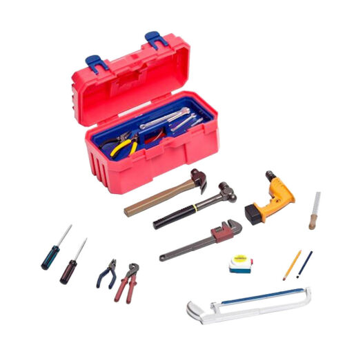 """1//6 Scale Mechanic Hand Tools Set for 12/"""" Action Figure Man Dragon DID Red"""
