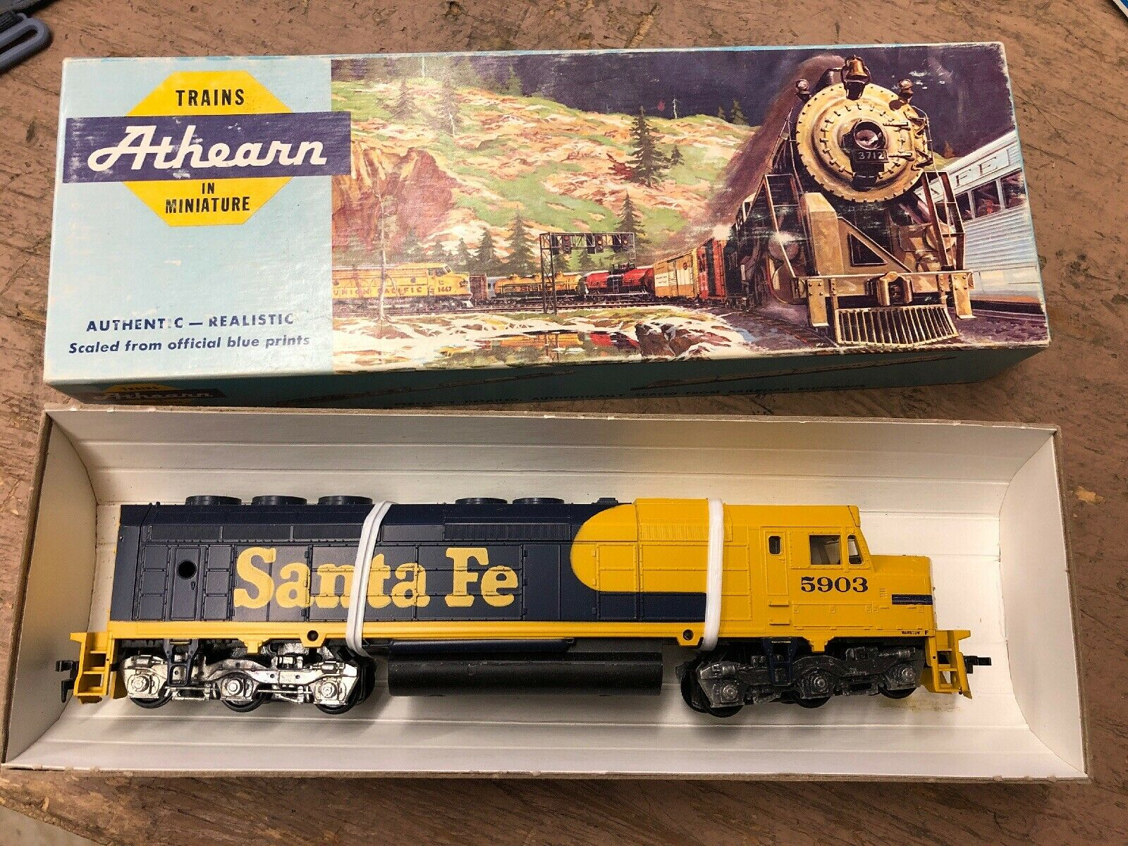 VINTAGE ATHEARN HO SCALE SANTA FE  ATSF  FREIGHT TRAIN CAR 3611